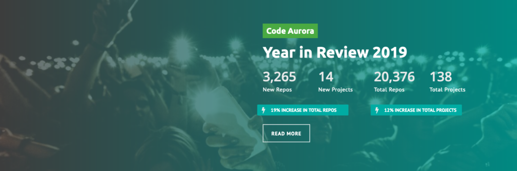CAF Year in Review Landing Page block