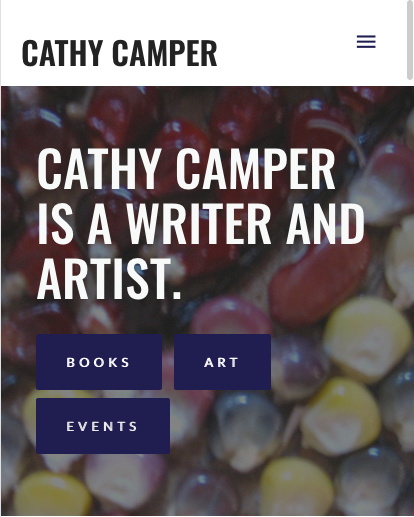 cathycamper.com - Mobile view