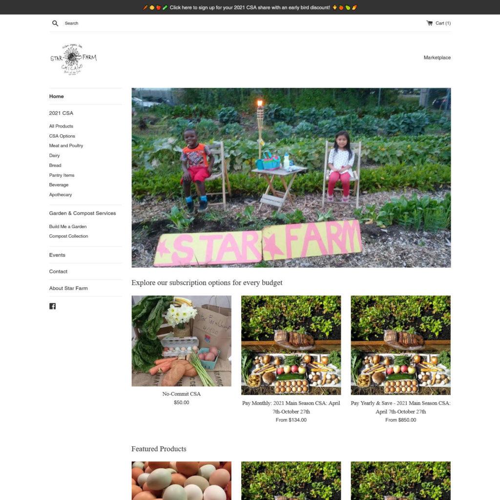 Star Farm Chicago Marketplace / Shopify E-Commerce - Preview Screenshot